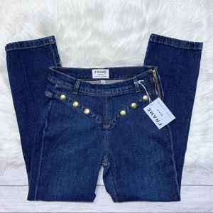 [Frame] NWT Le High Embellished Straight Jeans